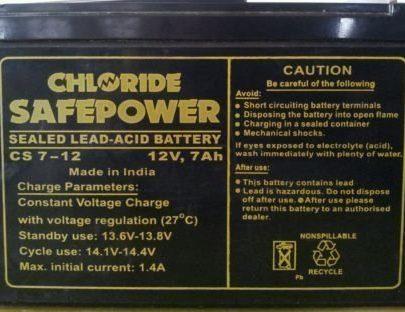 Exide Chloride 12V 7Ah Battery