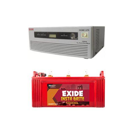 Exide 1050VA Home Inverter UPS And Inva Tubular 150AH Battery Combo