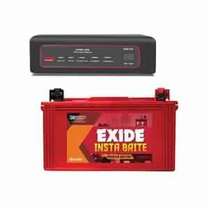 Exide 850VA Sinewave Home UPS And Insta Brite 150AH Inverter Battery Combo