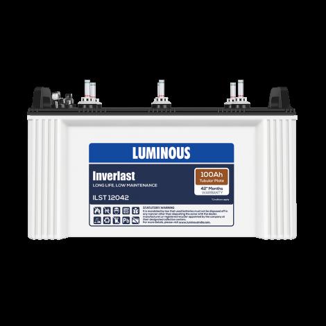 LUMINOUS INVERLAST – ILST 12042 100Ah TUBULAR BATTERY