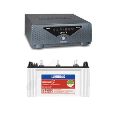 Microtek Hybrid HB1125 Sinewave Home UPS With Luminous RC18000 150ah Tubular Battery 36M Warranty Combo
