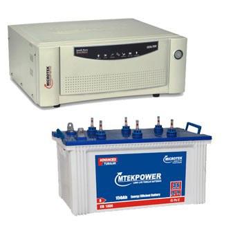 Microtek 900VA Sinewave Home UPS + 100AH Jumbo Tubular Battery Combo