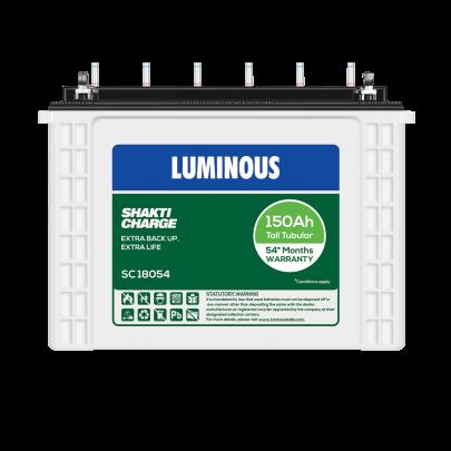 LUMINOUS SHAKTI CHARGE-SC 18054 150Ah TUBULAR BATTERY