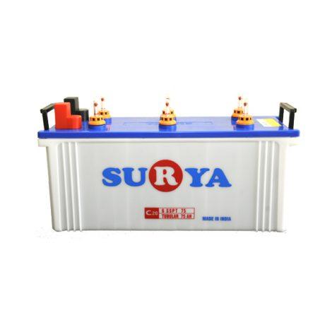 Surya 6SSPT75 75Ah Flat Battery